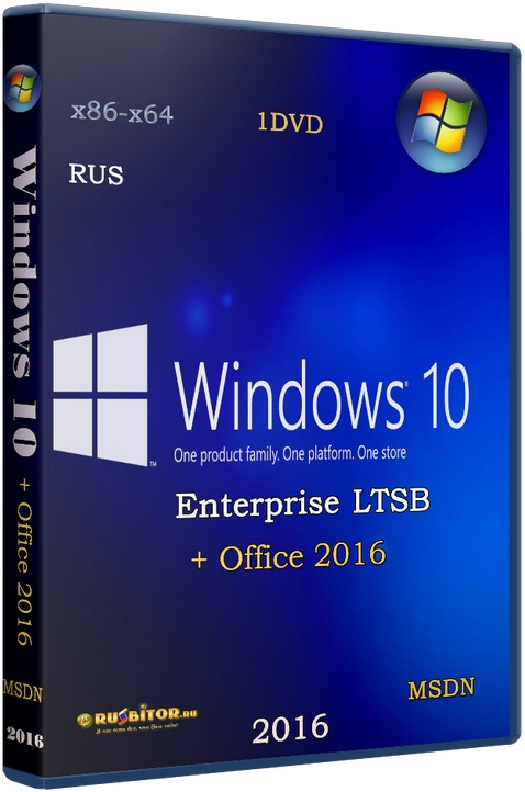 Windows 10 Enterprise LTSB x86-x64 1607 RU Office16 [10.0 build 14393 Redstone Release (RS1) Version 1607 Anniversary Update (10.0.14393.1066)] [2017] [2DVD] by OVGorskiy