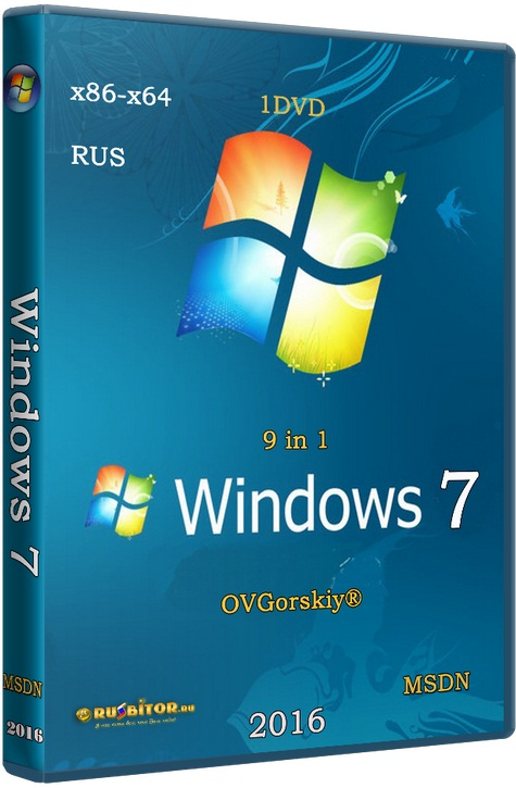 Windows 7 SP1 x86/x64 Ru 9 in 1 Origin-Upd 05.2017 [6.1.7601.17514 Service Pack 1 Сборка 7601] [2017] [1DVD] by OVGorskiy