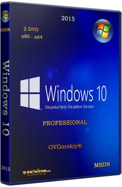 Windows 10 Professional x86-x64 VL 1703 Orig w.BootMenu [10.0 build 15063 Redstone Release (RS2) Version 1703 Creators Update RTM (10.0.15063.413)] [2017] [1DVD9] by OVGorskiy